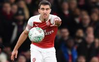 FILE: Arsenal's Greek defender Sokratis Papastathopoulos gestures during the English League Cup quarter-final football match between Arsenal and Tottenham Hotspur at the Emirates Stadium in London on 19 December 2018. Picture: AFP