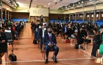Mourners gathered in Randburg at the official memorial service of Hlengiwe Mkhize on 23 September 2021. Picture: GCIS.