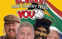 A poster for Leon Schuster's new movie 'Schuks!Your Country Needs You'.