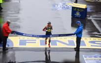 Japan's Yuki Kawauchi wins the 2018 Boston Marathon. Picture: @bostonmarathon/Twitter