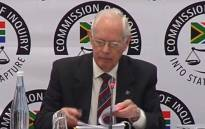 A screengrab of former Transnet strategy manager Francis Callard appearing at the Zondo commission of inquiry into state capture on 17 May 2019.