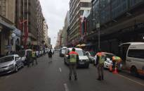 JMPD officers patrolling in the Johannesburg CBD. Picture: @AsktheChiefJMPD/Twitter