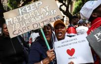Supporters of controversial pastor Shepherd Bushiri and his wife pictured at the Pretoria Commercial Crimes Court on Wednesday, 6 February 2019, where the couple applied for bail. Picture: Abigail Javier/EWN.