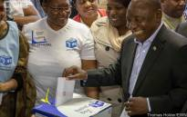 President Cyril Ramaphosa votes at Hitekani Primary School in Chiawelo in Soweto on 8 May 2019. Picture: Thomas Holder/EWN