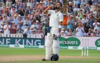 India's Virat Kohli celebrates scoring a century against England on 2 August 2018. Picture: @BCCI/Twitter