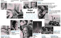 A look at the major events expected to make headlines in 2020. Picture: AFP