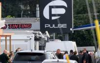 Orlando police officers seen outside of Pulse nightclub after a fatal shooting and hostage situation on June 12, 2016 in Orlando, Florida. The suspect was shot and killed by police after 20 people died and 42 were injured. Picture: AFP.