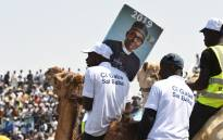 Supporters sit on camels during the ruling All Progressives Congress' (APC) candidate, incumbent President Mohammadu Buhari's presidential campaign rally at the Sanni Abacha Stadium in Kano, on 31 January 2019. Buhari has flag off campaign in Kano, the commercial nerve centre of northern Nigeria to seek re-election at the forthcoming February polls. Picture: AFP