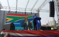 DA leader Mmusi Maimane addresses party supporters at the Mary Fitzgerald Square in Newtown, Johannesburg. Maimane was speaking at the DA's launch of its 2019 election campaign. Picture: @Our_DA/Twitter