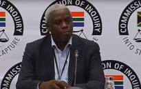 FILE: A screengrab of former Free State MEC Mxolisi Dukwana is giving evidence at the state capture inquiry on 5 April 2019. Picture: SABC News/ YouTube