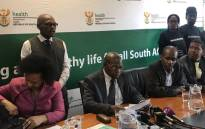 Health Minister Zweli Mkhize briefs the media at the Mamelodi Hospital ahead of an inspection at the facility on 6 June 2019. Picture: Thando Kubheka/EWN.