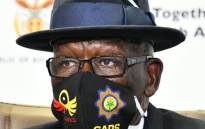 FILE: Police Minister Bheki Cele during a media briefing in Pretoria on 22 May 2020. Picture: Twitter