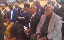 North West Premier Job Mokgoro attends the funeral of seven of the eight pupils who died in Zeerust last week. Picture: Twitter/NW Department of Education