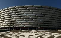 The Olympic Stadium in Baku, Azerbaijan, will host the Europa League final between Arsenal and Chelsea on 29 May 2019. Picture: Twitter/@Arsenal.