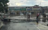 Heavy rains flood Savannah Mall in Polokwane. Picture: Twitter @StormReportSA1