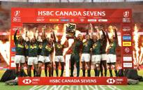The Blitzboks celebrate their victory at the Vancouver Sevens on 10 March 2019. Picture: @Blitzboks/Twitter