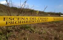 A crime scene in Mexico. Picture: AFP