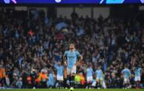 Manchester City defender Kyle Walker reacts to his side's UEFA Champions League exit after the quarterfinal second-leg football match against Tottenham Hotspur at the Etihad Stadium in Manchester, north-west England on 17 April 2019. Picture: AFP