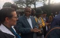 Former President Kgalema Motlanthe talks to the media outside Killarney Country Club after casting his vote. Motlanthe has urged South Africans to vote for the ruling ANC on 8 May 2019. Picture: Robinson Nqola/EWN