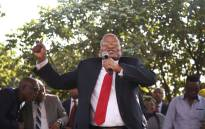 FILE: Former President Jacob Zuma addressing supporters following his appearance at the Pietermaritzburg High Court on 27 July. Picture: Bertram Malgas/EWN