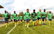 Amajita players at a training camp ahead of the Fifa Under-20 World Cup. Picture: @SAFA_net/Twitter