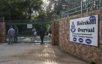 Hoërskool Overvaal in Vereeniging where EFF members are protesting the school's admission policy on 17 January 2018. Picture: Ihsaan Haffejee/EWN