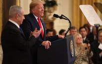 FILE: US President Donald Trump speaks during a press conference with Israeli Prime Minister Benjamin Netanyahu (L) in the East Room of the White House on 28 January 2020 in Washington, DC. Picture: AFP