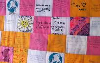 A quilt with messages of support for Warrior also known as Lilly has been donated to the Mdzananda Animal Welfare Clinic. Picture: Siyabonga Sesant/EWN.