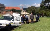 The crime scene where the murdered pupil's body was found on 13 March 2019. Picture: Thando Kubheka/EWN
