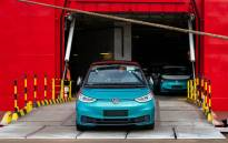 A VW ID.3 electric car arrives in Grimsby, England. Picture: @VWUKPress/Twitter