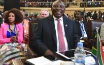 President Cyril Ramaphosa at the 10th Extraordinary Summit  of the assembly of the African Union in Kigali, Rwanda. Picture: @CyrilRamaphosa/Twitter