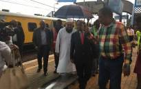 Transport Minister Blade Nzimande at the scene of the train crash at Mountainview station in Pretoria on 8 January 2019. Picture: Robinson Nqola/EWN