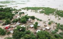 A village is left partially flooded after Cyclone Idai made landfall. Picture: @UNICEFZIMBABWE/Twitter