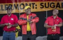 ANC president Cyril Ramaphosa at Sugar Ray Xulu stadium in Clermont, Durban. Picture: Abigail Javier/EWN