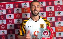 Kaizer Chiefs forward Samir Nurkovic with his man of the match award after the Absa Premiership match against Cape Town City FC at Newlands Stadium in Cape Town on 27 August 2019. Picture: @KaizerChiefs/Twitter