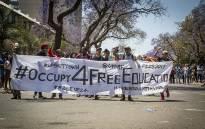 FILE: #FeesMustFall demonstrators protest outside the University of Pretoria. Picture: Reinart Toerien/EWN.