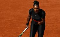 FILE: Serena Williams will be banned from wearing her black catsuit at the French Open in the future, with the tournament set to introduce a stricter dress code. Picture: CNN