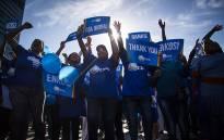 FILE: DA supporters celebrate the party's local government election results at a rally in Cape Town. Picture: Aletta Harrison/EWN.