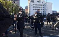 Protest organisers outside Parliament in Cape Town on Saturday 19 June 2021 say the draft Firearm Control Bill is unconstitutional, and it removes the right of citizens to protect themselves. Picture: Eyewitness News/Lizell Persens