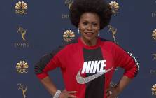 A screengrab of actress Jenifer Lewis wearing a Nike sweater to the Emmy Awards in support of former NFL quarterback Colin Kaepernick.