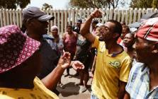 Reiger Park residents square off with police who had to intervene as clashes between the Reiger Park and Joe Slovo communities broke out on 12 October 2018 after cable thieves were arrested the night before. Picture: Thomas Holder/EWN
