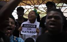 TUT students demand justice for Katlego Monareng outside the Soshanguve Magistrates Court. Picture: Kayleen Morgan/EWN