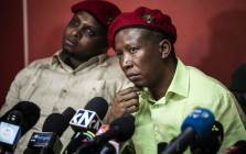 EFF leader Julius Malema at a media briefing in Johannesburg on 16 October 2018. Picture: Abigail Javier/EWN