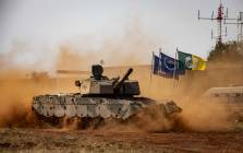 An Olifant Mk2 battle tank on display during a manoeuvre display at Africa Aerospace and Defence 2018. Picture: Thomas Holder/EWN