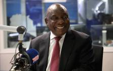 President Cyril Ramaphosa in conversation with Radio 702's Xolani Gwala. Picture: Abigail Javier/EWN