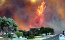 A fire seen in the Franskraal area on 11 January 2019. Fires are raging in Franskraal, Karwyderskraal, Betty's Bay, Gansbaai and Hermanus. Picture: Supplied.