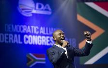 Democratic Alliance leader Mmusi Maimane at the party's congress on Saturday 7 April 2018. Picture: Sethembiso Zulu/EWN