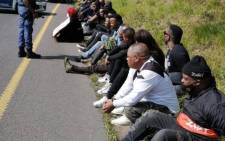 A group of artists and entertainers blocked the roadway earlier and staged a mini-concert on the N3 in KZN on Wednesday, 2 September 2020. Picture: Supplied