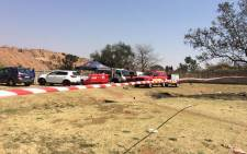 FILE: The Saps, JMPD, paramedics and City of Johannesburg rescue teams are at the George Harrison Park in Laanglagte trying to rescue trapped illegal miners. Picture: Masa Kekana/EWN.