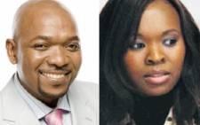Pic collage of actors Menzi Ngubane and Noxolo Maqashalala. Picture: Supplied